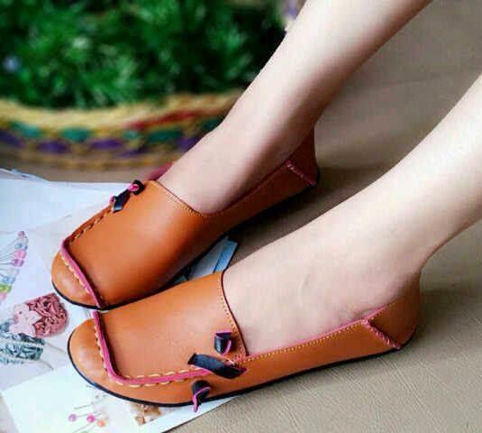 Sepatu Cewek Flat Sepatu Cewek Flat Pretty Shoes Mocca