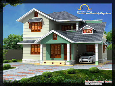 Beautiful 1637 Sq Ft Villa Plan And Elevation on indian house designs and floor plans