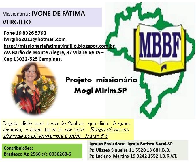 Projeto Mogi Mirim: Missionária Fátima  Vergilio