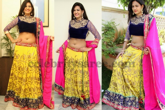 Swetha Jadhav Lemon Yellow Lehenga