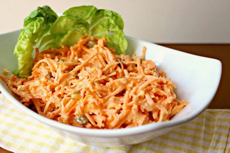 Tropical Carrot Raisin Salad:  Classic Carrot Raisin Salad with a tropical flare!  #carrots #salad