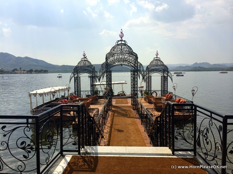 Taj Lake Palace's private jetty, Udaipur