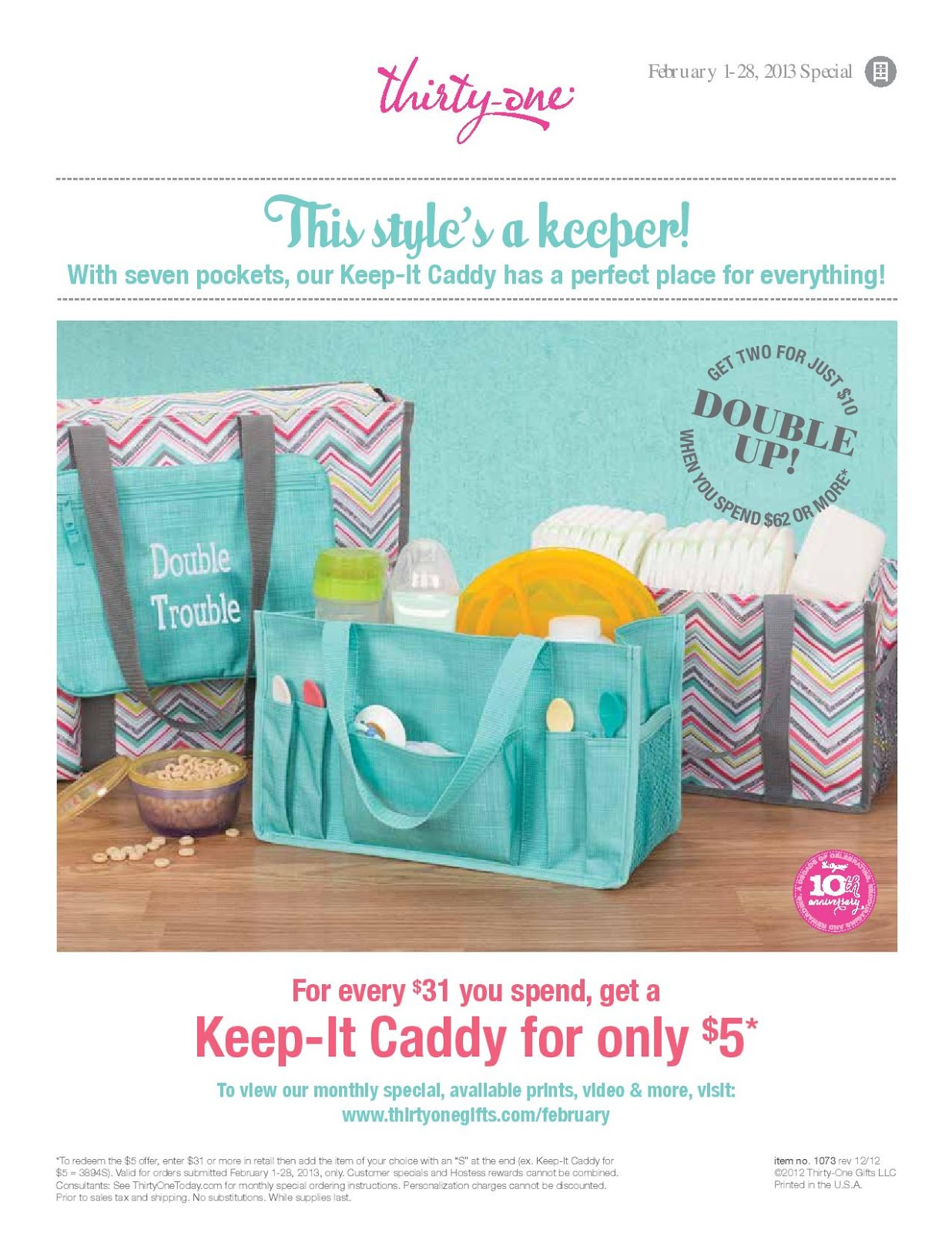 Thirty One: February Customer Special 2013