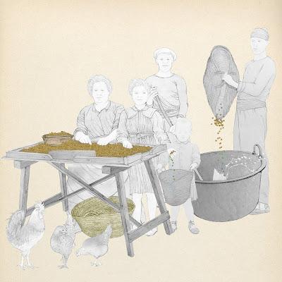 preparacion del porrat, dibujo