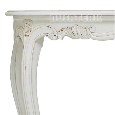 Rantau French Style Console Table Left Side - Nusa Teak