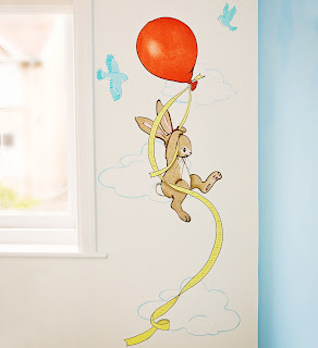 Belle and Boo Wallsticker Height Chart. Shown on a wall.