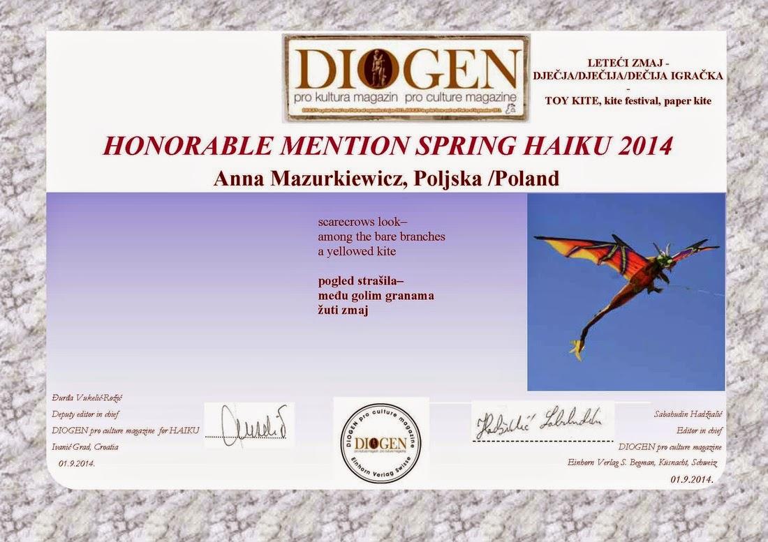 Diogen Spring Haiku 2014