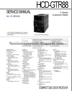 HCD-GTR88 Manual de Servicio