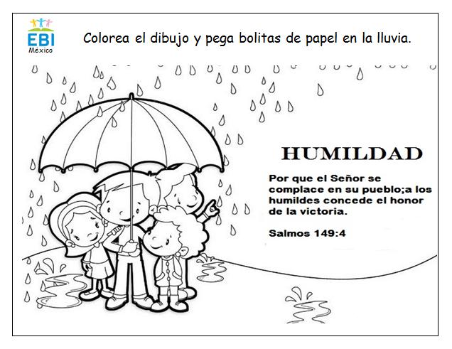 Para colorear - Humildad ~ EBI México