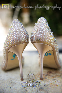 "The bride said ""I Do"" even before the ceremony with this fashion statement on the sole of her shoes."