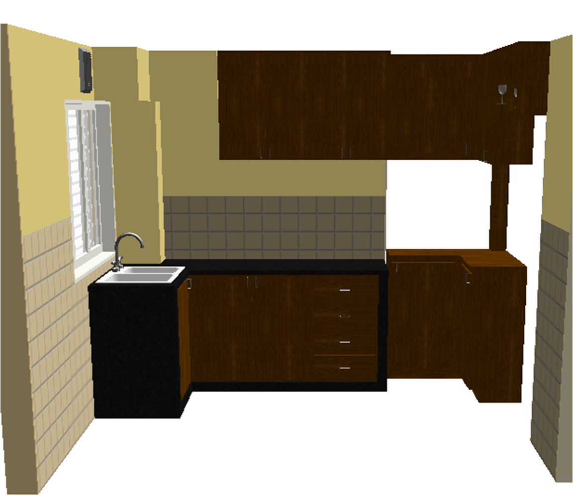Modular Kenya Project Simple L Shaped Small Kitchen: IQUEST DESIGNS: Simple Kitchen Cabinet Design For Small