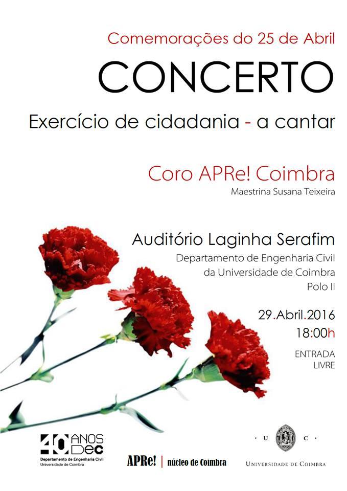 'EXERCÍCIO DE CIDADANIA – A CANTAR', espectáculo em Coimbra