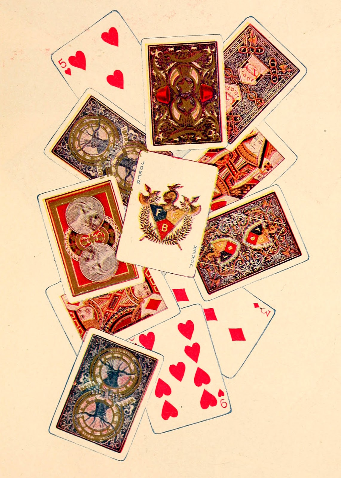 Картинки к декупажу игральные карты