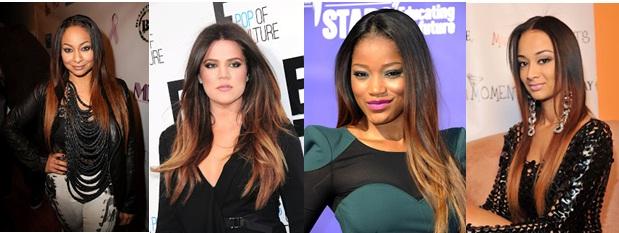Raven Symone Khloe Kardashian Keke Palmer Draya Michelle Ombre hair
