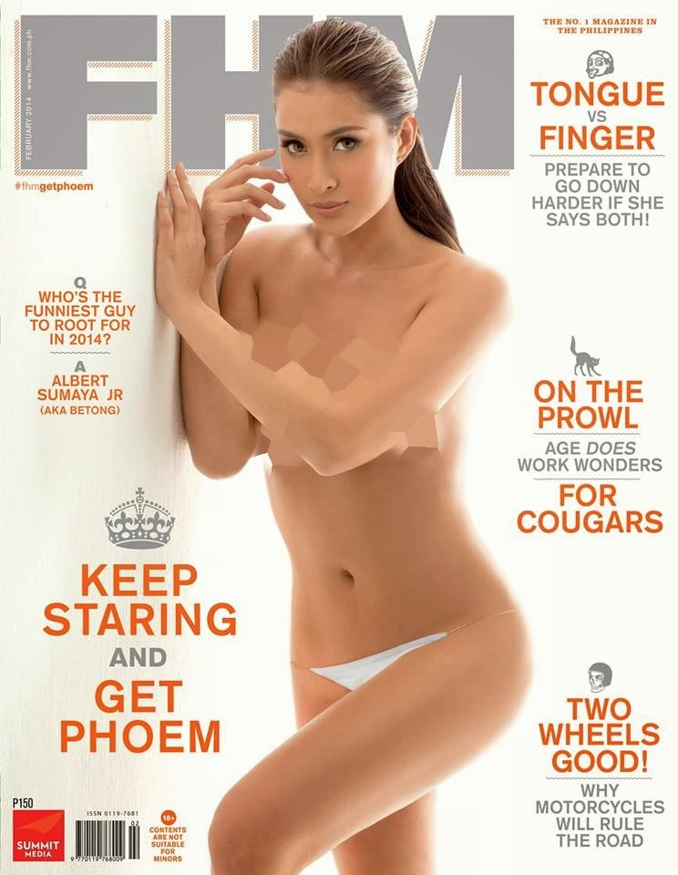 Phoemela Baranda Covers FHM February 2014 Issue
