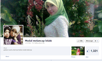 Facebook: Model Melancap Lelaki