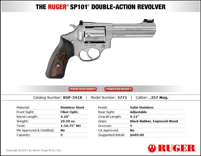 New Ruger .357MAG SP101