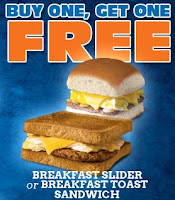 Buy One Get One FREE Breakfast Sandwiches at White Castle