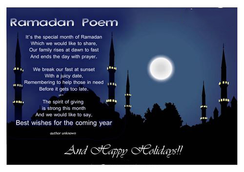 Nice Ramadan Poem On A Picture Of Muslims Church And Moon