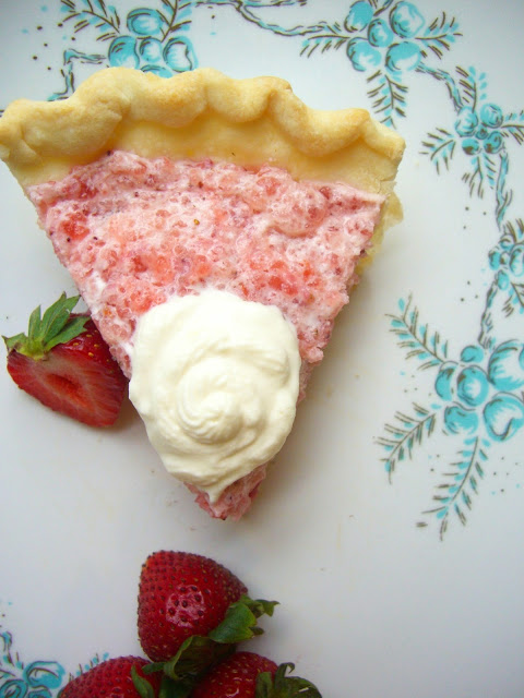 vintage recipe strawberry chiffon pie