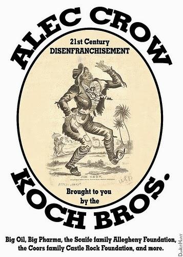 """ALEC CROW - 21st Century Disenfranchisement"" (Illustration by DonkeyHotey)"