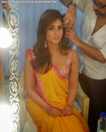 Kareena Kapoor in yellow saree