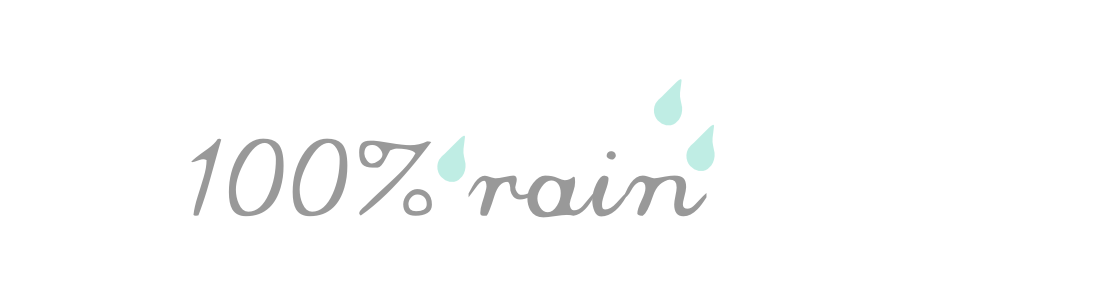 100% rain