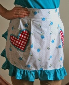 Flirty Apron with Heart Shaped Pockets