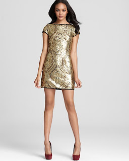 The Perfect Dress - Nanette Lepore Gold Society Sequined Dress