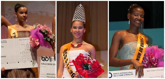 Miss Sao Tome e Principe 2013 Helena de Pina & Vanilza Tavares dos Santos