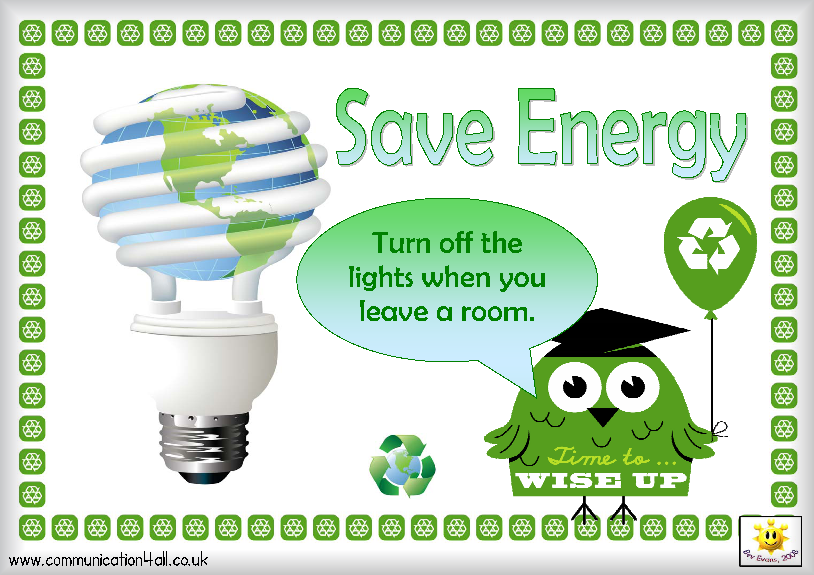 SAVE ENERGY SAVE WATER