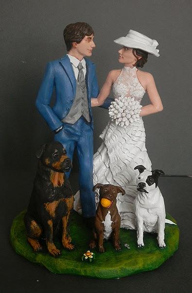cake topper cagnolino abiti sposa personalizzati statuine matrimonio eleganti orme magiche