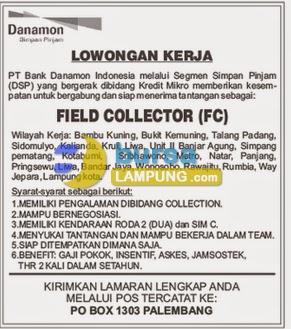Lowongan Kerja PT Bank Danamon untuk wilayah Lampung, 6 Juli 2014
