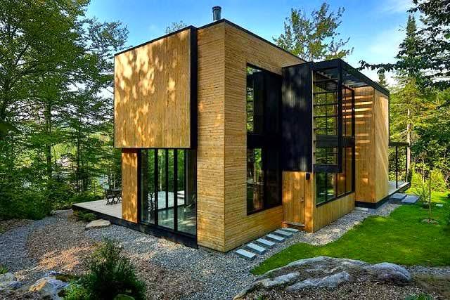 casa de madera en el coraz n del bosque laurentian arquitexs