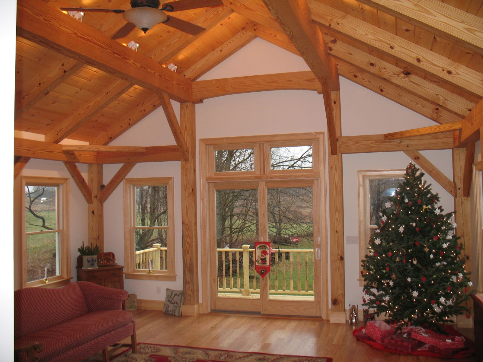 Timber frame life for Timber frame great room