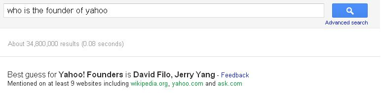 Who is the finder of yahoo?