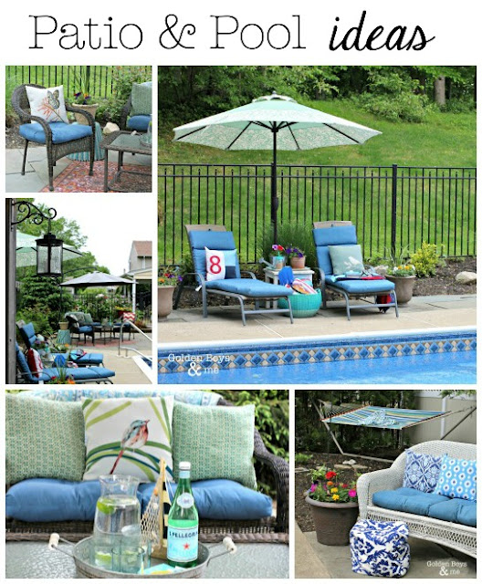 Golden boys and me summer cottage garden party pool for Garden pool party 2015