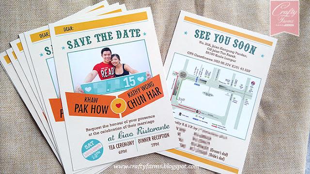 Photo Save The Date Wedding Card Malaysia