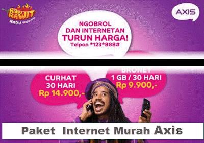 daftar paket internet murah axis terbaru 2016