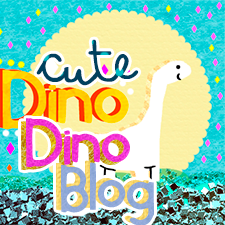 Cute Dino Dino blog, grab a button