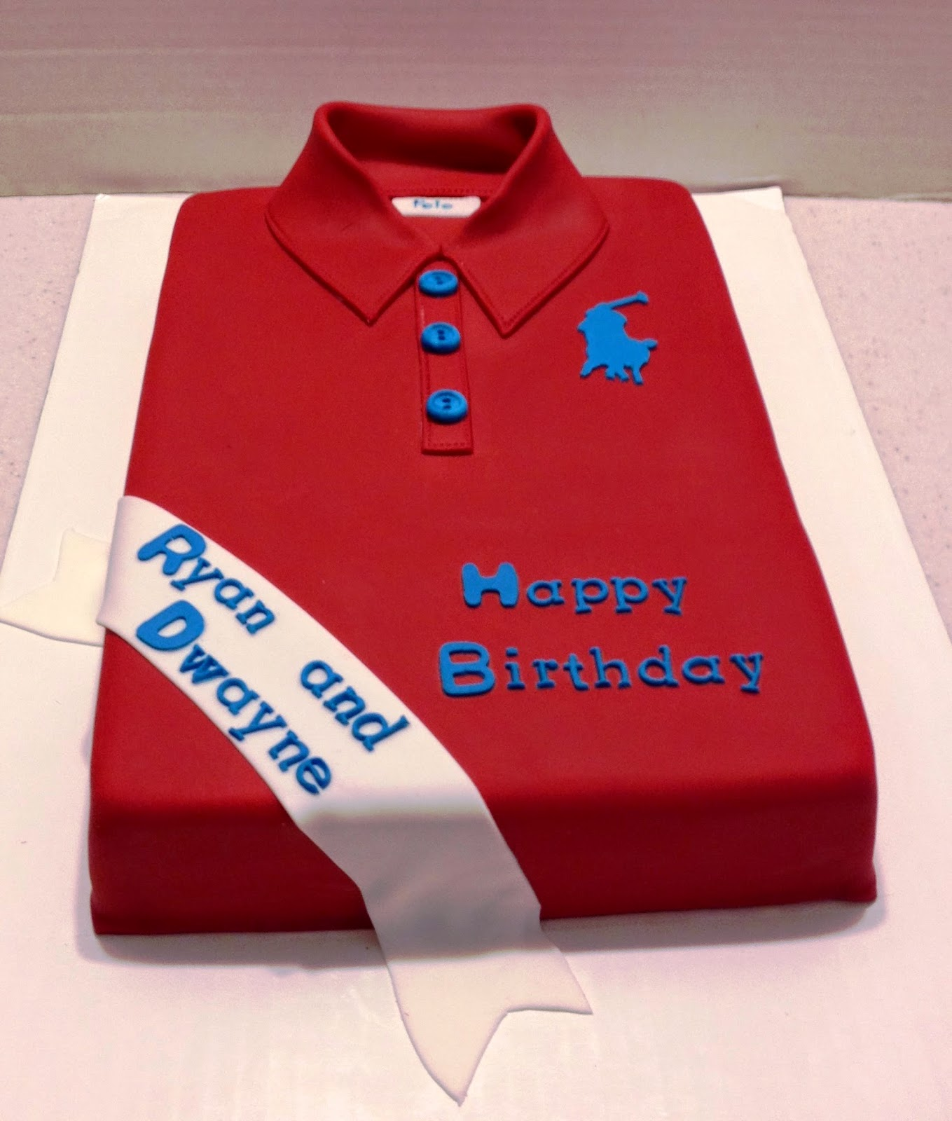 MaryMel Cakes: Polo shirt double birthdays
