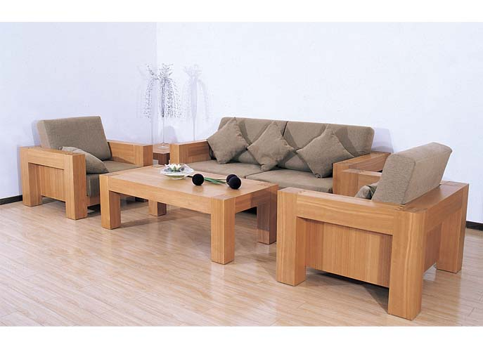 Solid Wood Sofa Design