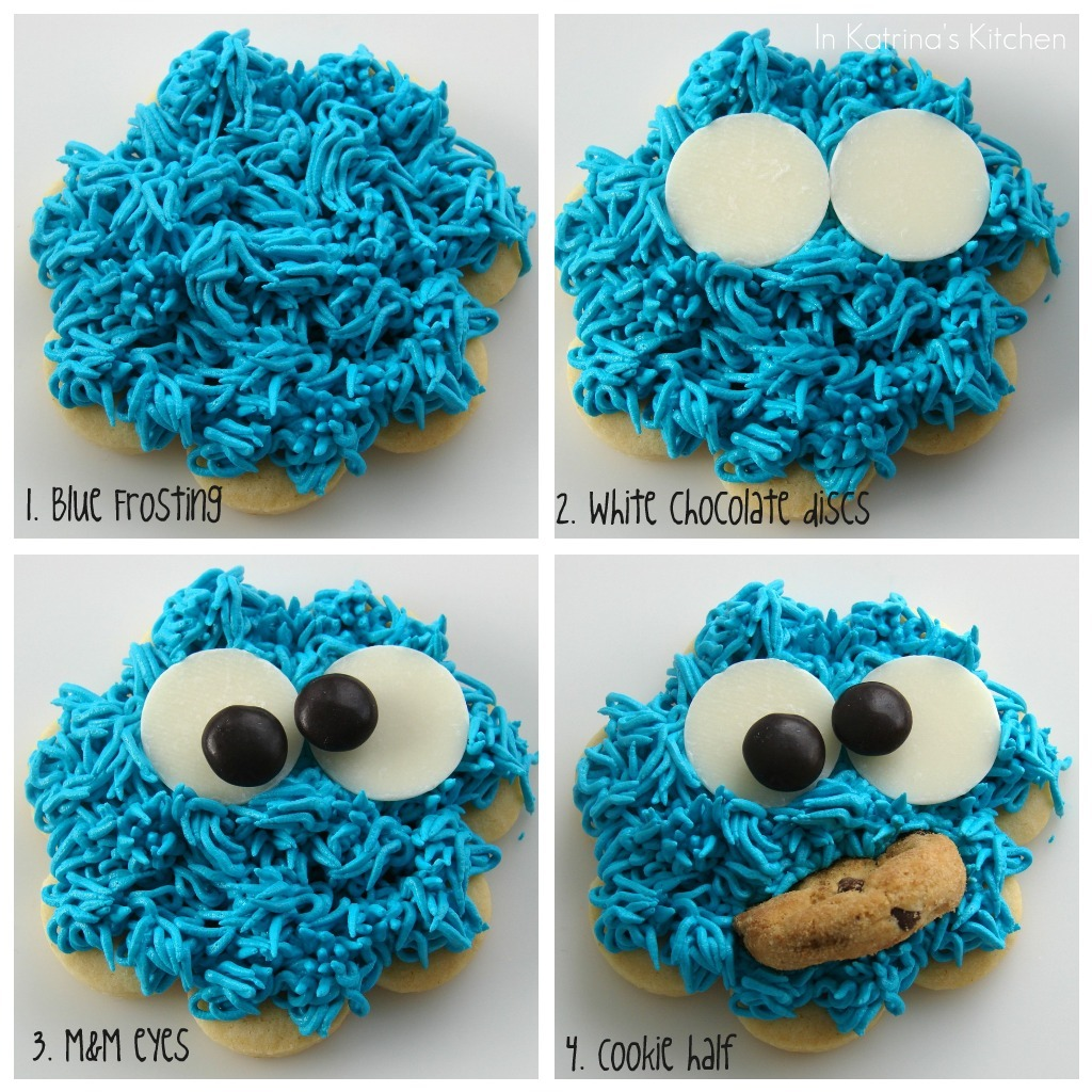 Cookie Monster Cookies from @KatrinasKitchen at www.inkatrinaskitchen ...