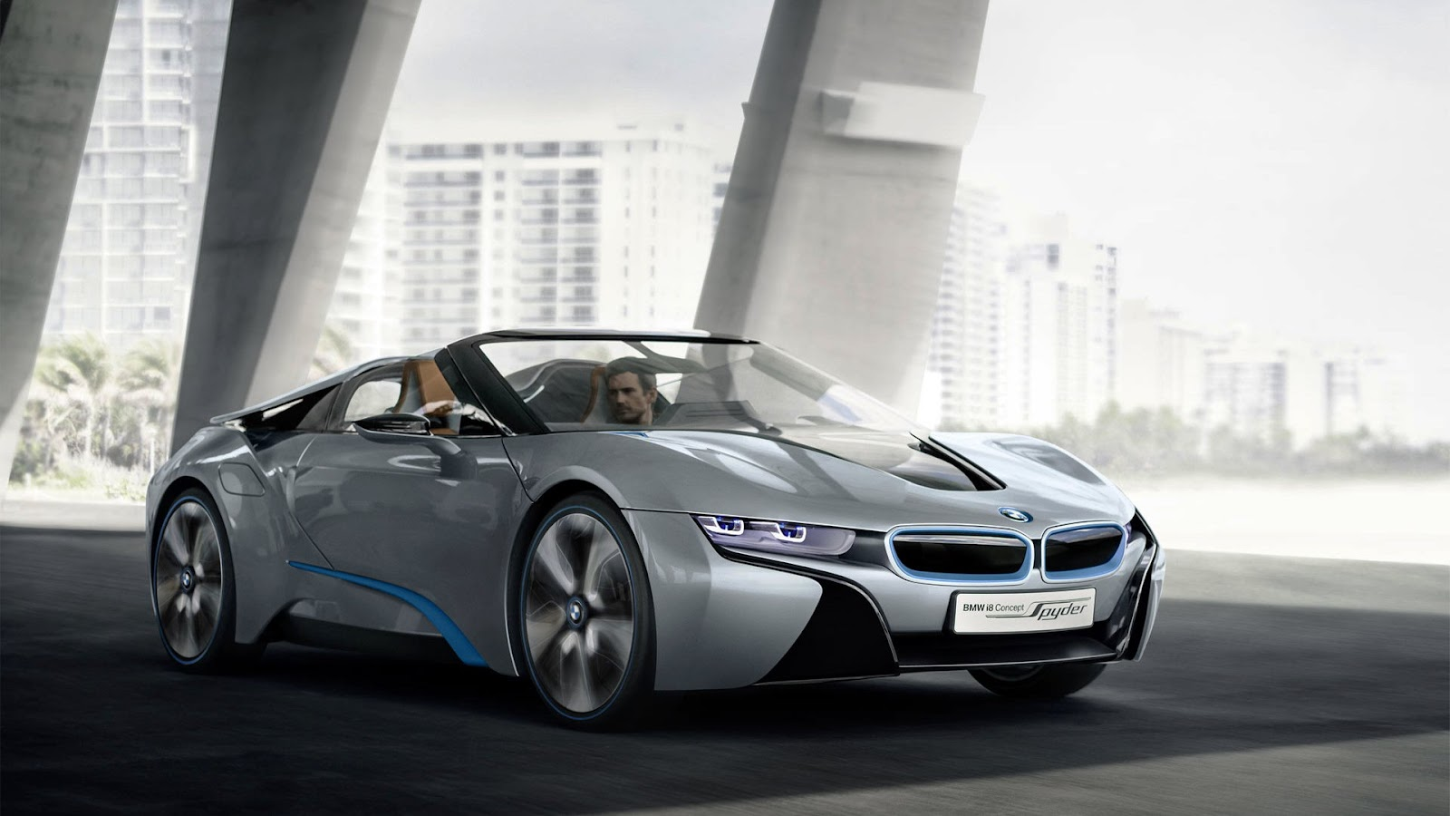 2013 bmw i8 spyder concept free full hd car wallpaper. Black Bedroom Furniture Sets. Home Design Ideas