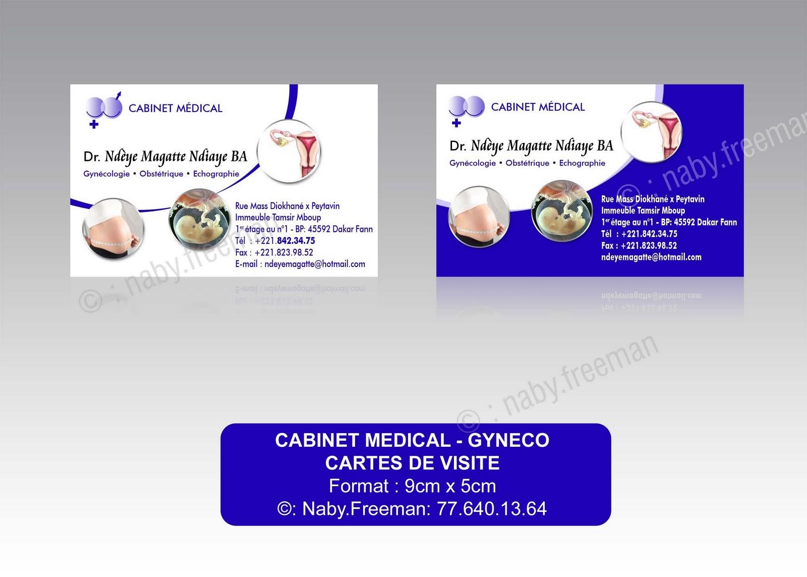 Realisation De Cartes Visite Pour Cabinet Gyneco
