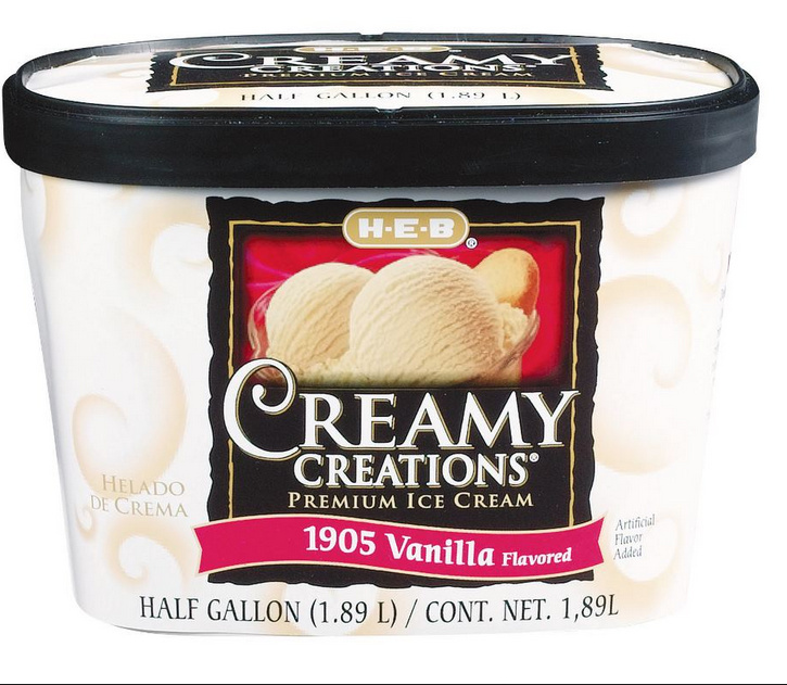 1905 vanilla ice cream