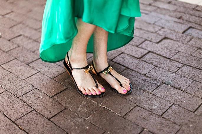 Kate Spade black bow sandals