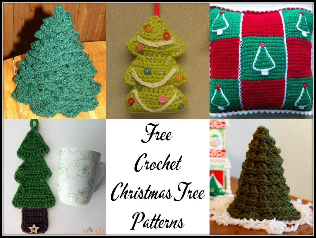 Free Crochet Christmas Tree Pattern Round-Up