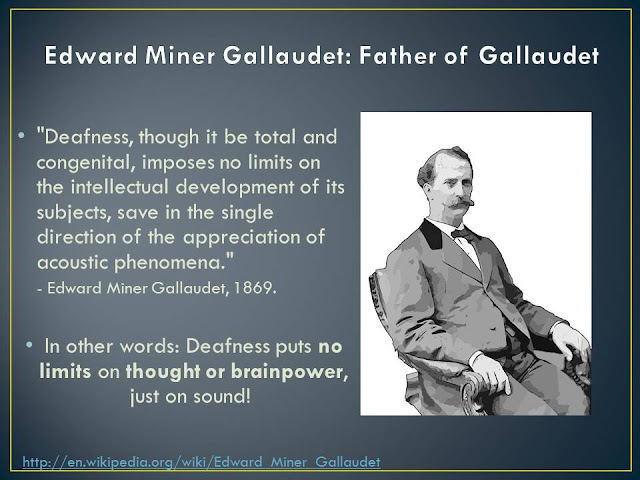 the life and contributions of edward miner gallaudet Gallaudet, bell & the sign language controversy bell & the sign language controversy edward miner gallaudet and alexander graham bell were about as.