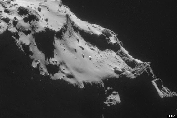 Rosetta Spots UFO on Surface of Comet